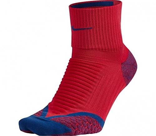 Nike Herren Socken ELITE RUNNING CUSHION QTR, Rot/Blau, 44.5, SX4850-657