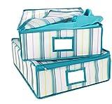 2 aufbewahrungsboxen Schrankbox Streifen Unterbettbox