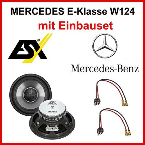 Lautsprecher Set ESX QE120 für Mercedes E-Klasse W124 1984-1997 vorne