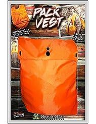 Mountain Mike de reproducciones Co. El Pocket Sherpa Carne Pack–Chaleco cazador naranja de seguridad, talla única