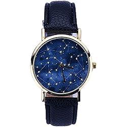 SSITG Star Wrist Watch Women Leather Analog Quartz Wrist Watch Gift Gift Ladies 'Watch