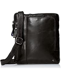 Visconti Buffalo Leather Messenger Bag Shoulder Crossbody Bag Handbag, Black, One Size