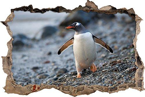 Poco muro svolta Penguin in aspetto 3D,