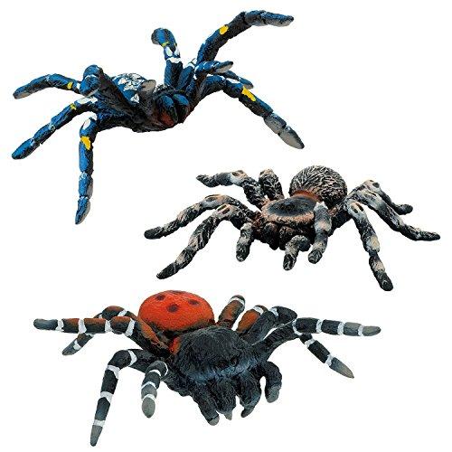 Bullyland Spinnen-Set - Blaue Ornament Vogelspinne 68459 Röhrenspinne 68458 Weißknie Vogelspinne 68457