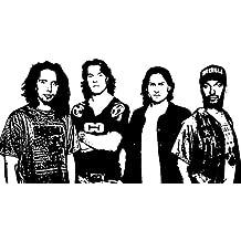 "'Rage Against The Machine r.a.t.m. (Zack de la Rocha, Tom Morello, Tim ""C commerford, Brad Wilk)–Marco moderno panel madera MDF pintado a mano Pop Art Effect (tamaño 60x 40cm)"