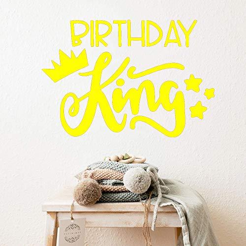 Vinyl wandaufkleber wohnkultur stikers pvc wandtattoos diy dekoration zubehör gelb 43 cm x 63 cm -