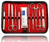 Sezierbesteck pour Etudiants | Dissection Mikroskopierset Anatomie | avec Scalpel Sezierschere Pincette Lames Chirurgicales