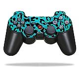 MightySkins Schutzfolie für Sony Sticker, 100 erhältlich, Sony Playstation 3 PS3 Controller, Teal Leopard