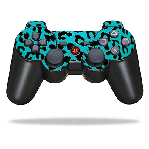 MightySkins Schutzfolie für Sony Sticker, 100 erhältlich, Sony Playstation 3 PS3 Controller, Teal Leopard (Controller Ps3 Skin-lila)