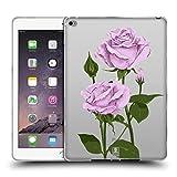 Head Case Designs Pfund Silber Rosen Und Wildblumen Soft Gel Hülle für iPad Air 2 (2014)