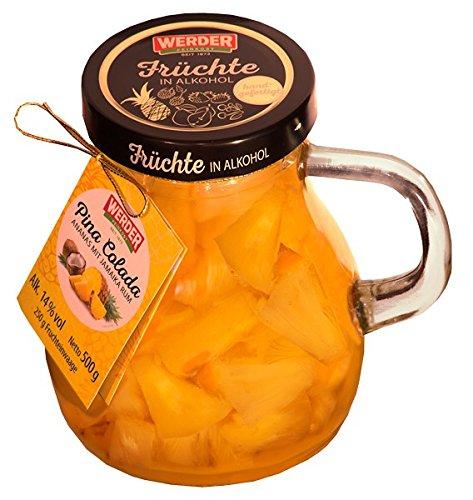 WERDER Pina Colada - Ananas mit Jamaika Rum Karaffe 500 g Alk. 14 % vol