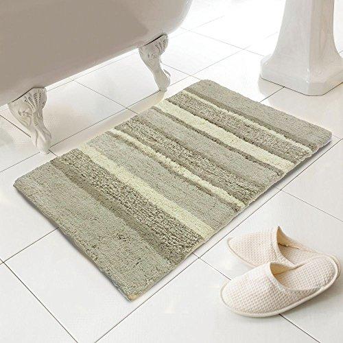 Tony 's Textiles–100% algodón Heavy Weight Tonal Stripe Natural alfombra de alfombrilla de baño (estándar)