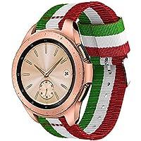 samLIKE Nylon Pulsera para Samsung Galaxy Watch–Suave Ajustable para Pulsera Tejida Brazalete Deportivo para Hombre y Mujer, para Samsung Galaxy Watch 42mm, Color ⭐️ A