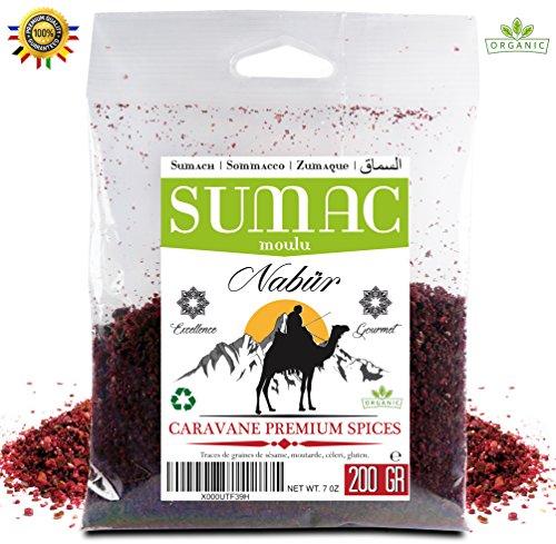 Sumach Gewürz on Nabür - 200 Gr Gourmet - Ground, Fruchtig, Organic - Ein frisches und duftendes Gewürz, perfekt für Ihre Zubereitungen und Gewürze, (200)