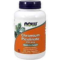 Chromium picolinate 200 mcg - 250 gelules - Now foods