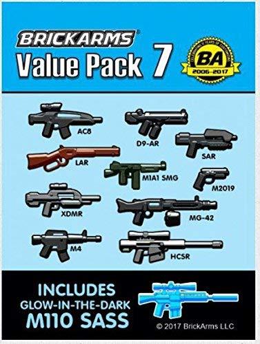 Brickarms Value Pack 7 Waffen Set 11 Teilig für LEGO Swat Polizei Soldaten Figuren - Lego Drum-set