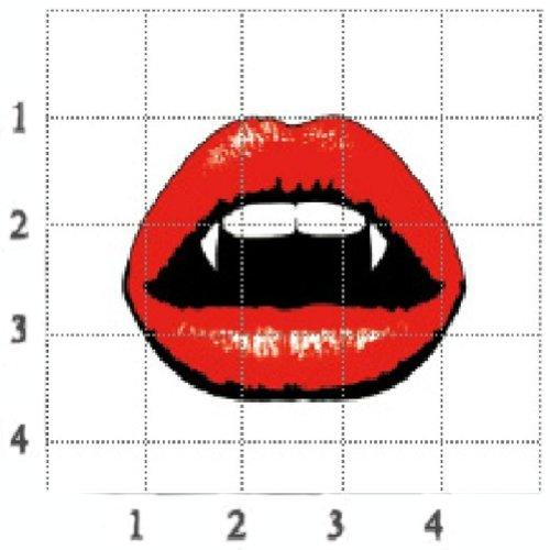 8Pcs La lèvre de vampire rouge Tatouages temporaire imperméable Tatouages