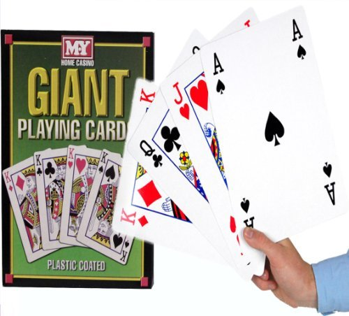 a4-giant-jumbo-plastic-coated-playing-cards-deck-28-cm-outdoor-garden-family-party-bbq-game
