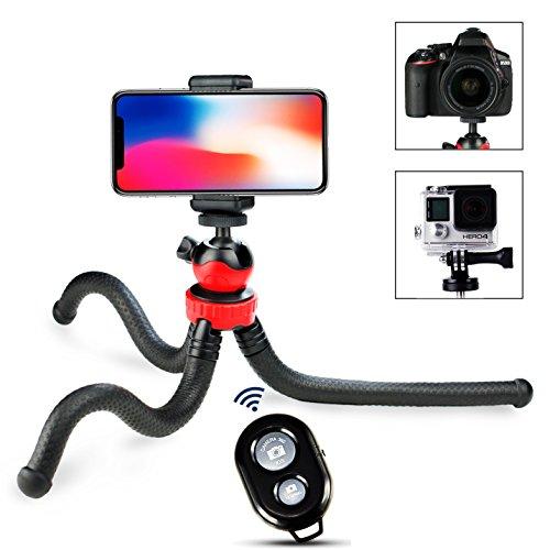 Prowithlin® Handy Stativ - Flexibles mini Octopus Smartphone Stativ für iPhone Sumsung und GoPro Kameras (Stativ & Fernbedienung)