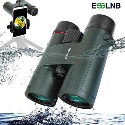 ESSLNB Prismaticos Profesionales 10x50 100/% Prism/áticos Impermeables BAK4 Prisma para Caza con Adaptador de Telefono Bolso y Correa