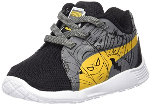 Puma Unisex-Kinder St Trainer Evo Batman Low-Top, Schwarz Black-Dandelion-Steel Gray 01, 37 EU (Batman Turnschuhe)