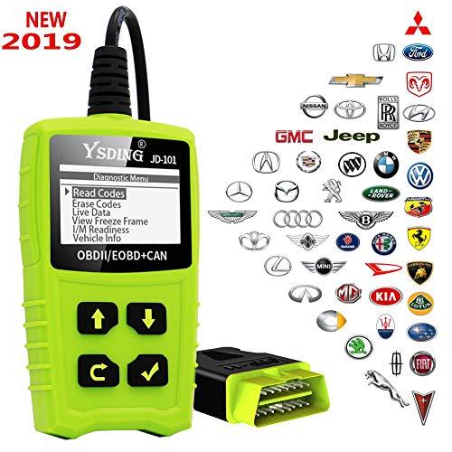 OBD2 Diagnosegerät OBD Code-Scanner-Fahrzeug-Fehlercodeleser arbeitet an allen Autos mit OBD2 / EOBD / CAN-Modi und 16-Pin OBDII-Schnittstelle für Lesen und Löschen Fehlercode und Batterie Test (Software überprüfen)