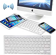 Universal Bluetooth Wireless Keyboard, Ultra Compact Slim Keyboard Compatible With Apple iMac iPad Computer De