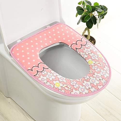 Trap-o-ring (BAOZIV587 2er-Pack WC-Sitzkissen Haushalt Toilettendeckel Aufkleber WC-Trap Waterproof Universal-Toilettendeckel Sommer, Pink Pastellkleber)