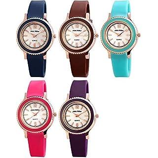 Alain Miller rp3640000001–Uhr für Frauen, Silikon-Armband mehrfarbig