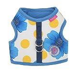 Pinkaholic New York NAQA-AH7218 Hunde Weste, Peonies Harness, Medium, blau