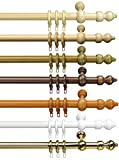 Garduna Klassische Gardinenstange | Weiß 120cm | Vorhangstange | Ø 28mm | Viele Farben & Größen