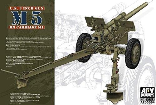 AFV Club 35S64       Model Kit 3INM5  on carriage M1