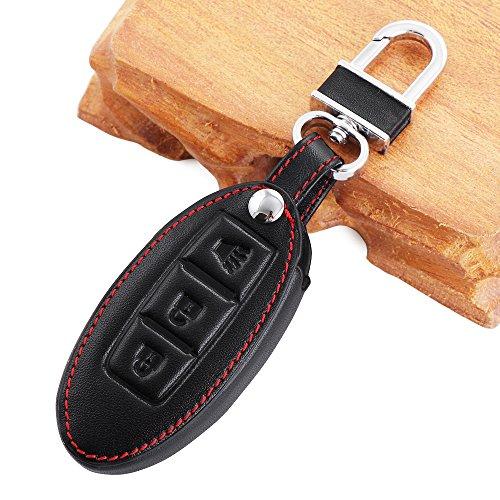 alta-calidad-del-auto-styling-llave-para-el-caso-para-nissan-3-button-key-schwarz-mit-roten-linie-3-