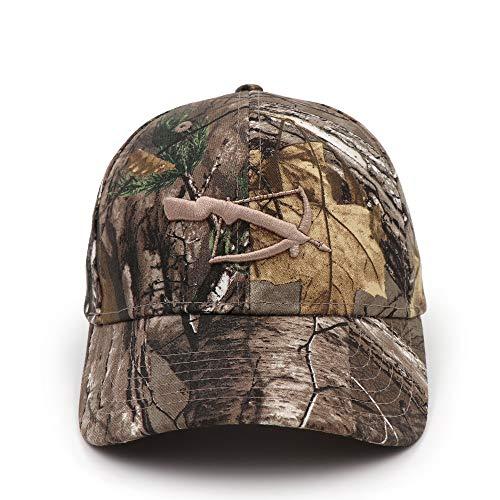 FXSYL Baseball Cap Camo Baseball Cap Angeln Caps Männer Outdoor Jagd Camouflage Dschungel Hut Frauen Wandern Hüte Armbrust Bestickt,C1
