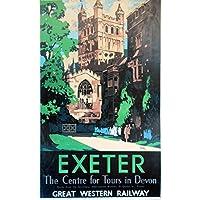 EXETER . Vintage GWR Ferrovia Poster Vari