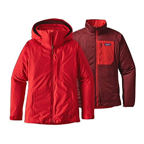 Patagonia 3 en 1 Veste W's 3-in-1 Snowbelle Jacket French Red