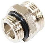 Oventrop 1028161 Einschraubstutzen R 1/2 Zoll, AGxG 3/4 Zoll AG, Messing, vernickelt