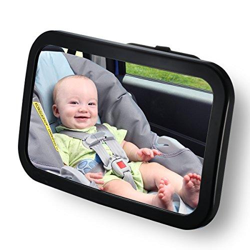 Specchietto Retrovisore per Bambini Auto Seggiolini in Posizione Retro, Specchietto Auto per Bambini Regolabile per Sicurezza Poggiatesta Posteriore Auto, Nero