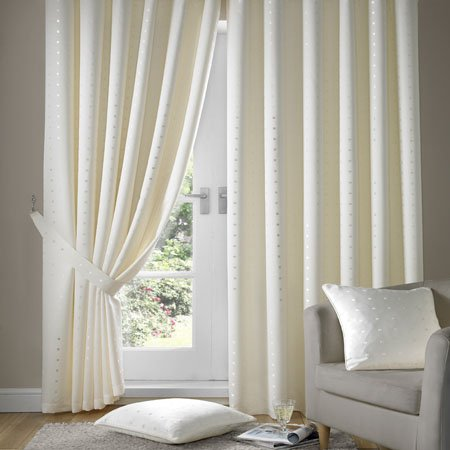 Madison Cream Tape Top Curtains 90″ Wide x 108″ Drop