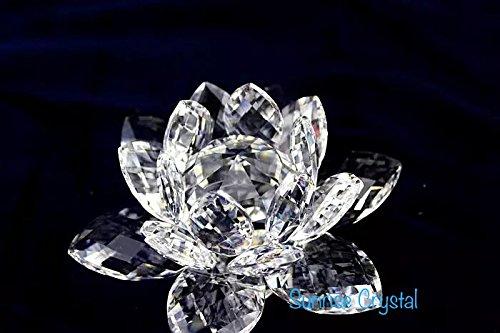 Unbekannt multifacettierten Schnitt-Crystal Clear Lotus Flower. von Sunrise Crystal