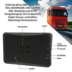 9 Zoll Navigationsgerät Navi Navigationssystem DRIVE-TECH für LKW, PKW, WOHNMOBIL, Camper. 50 Länder Europas, Text-to-Speech, lebenslange Kartenupdates. Fahrspurassistent. Kapazitiven Touchscreen.