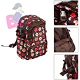 Baby Grow Colorland Large Capacity Multi Functional Backpack Nappy Bag/Diaper Bags (Brown Flowers)