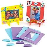 Portafoto di Spugna per Bambini da Creare Personalizzare ed Esporre come Idea Creativa (confezione da 4)