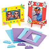 Baker Ross Moosgummi-Bilderrahmen für Kinder zum Dekorieren - 13.5 cm x 17.5 cm - Geschenkidee (4 Stück)