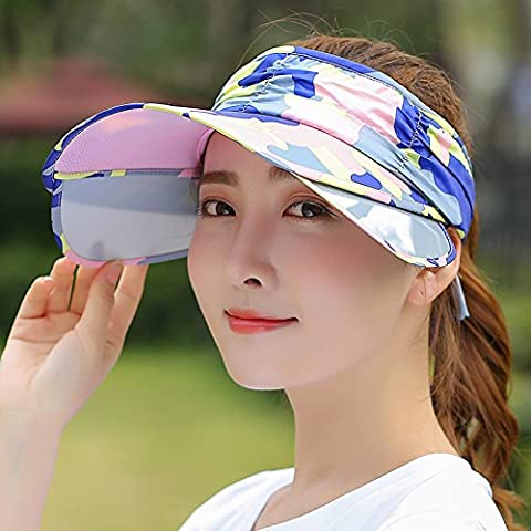 Visor Hat Cap Loisirs Sports Piscine Tennis et Baseball Cap Mme Sun Hat un grand vide Top Hat Équitation Parasol Cap Taille réglable. Couleur réglable