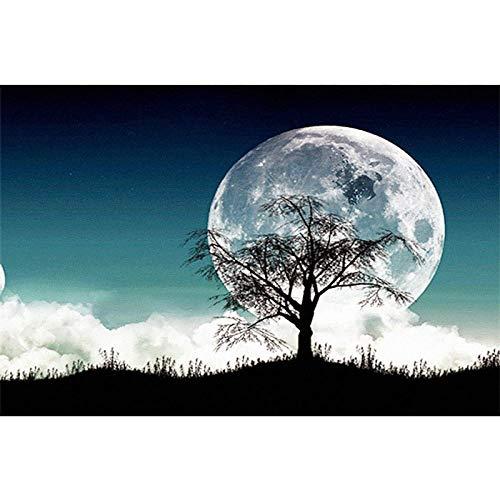 Nannan 5D Diamant Malerei Mond Baum Schatten DIY Voller Diamanten Neue Dekoration Wohnzimmer Schlafzimmer Handwerk @ 40X60 cm