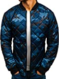 BOLF Herren Bomberjacke Übergangsjacke Steppjacke Camouflage Army Motiv Street Style J.Style MY10 Mehrfarbig XXL [4D4]