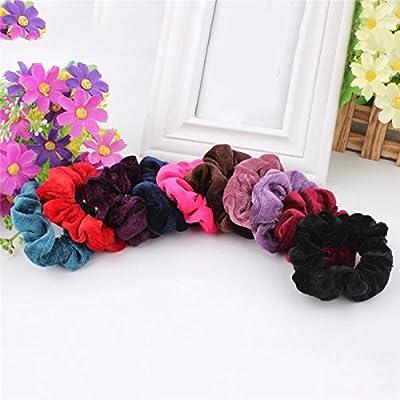 CHRONEX Multicolour Hair Elastic Ponytail Holders Bands for Women