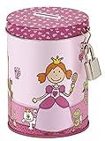 sigikid, Mädchen, Metall Spardose, Inkl. Schloss + 2 Schlüssel, Pinky Queeny, Pink, 24735