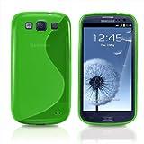 JAMMYLIZARD | S-Line Silikon Case Hülle für Samsung Galaxy S3 und S3 Neo, GRÜN